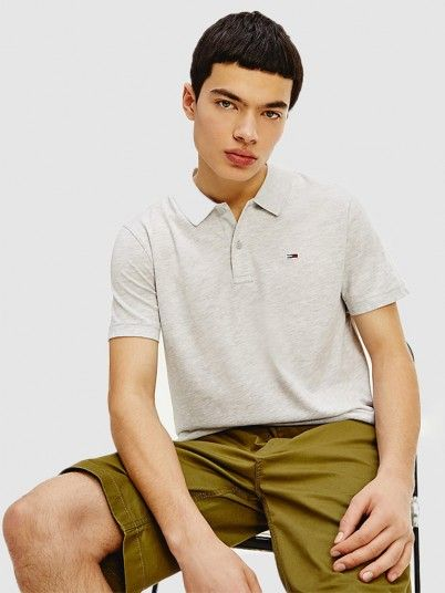 Polo Shirt Man Cream Tommy Jeans