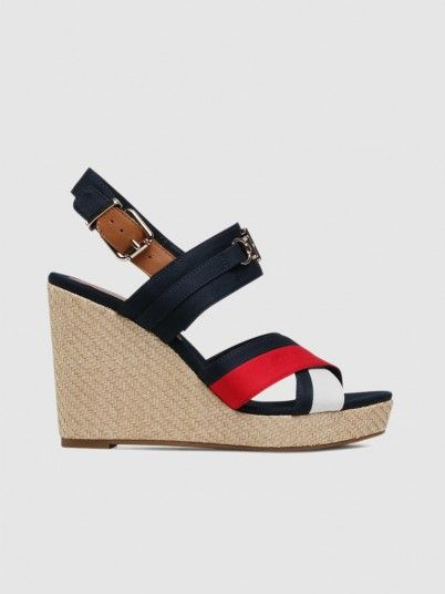 Sandals Woman Navy Blue Tommy Jeans