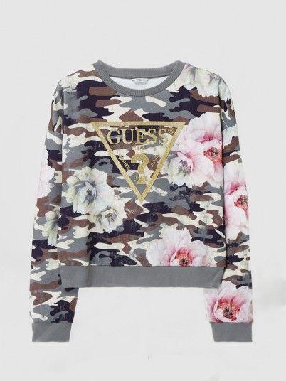 Sweatshirt Girl Troop Green Guess