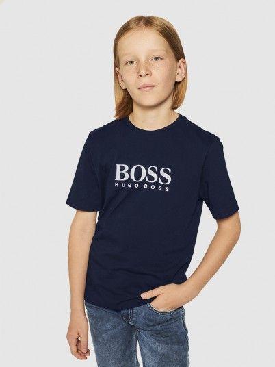 T-Shirt Menino Manches Hugo Boss