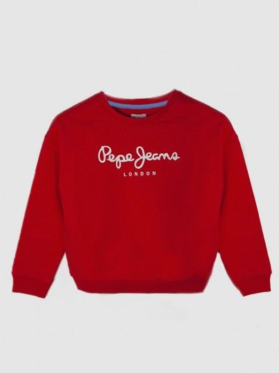 T-Shirt Fille Rouge Pepe Jeans London