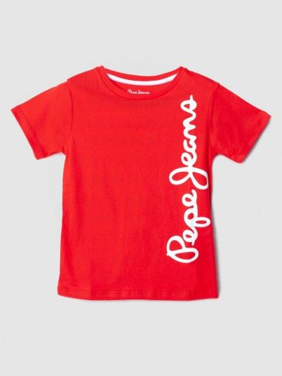 T-Shirt Boy Red Pepe Jeans London