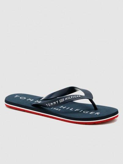 Chinelo Homem Print Beach Tommy Jeans
