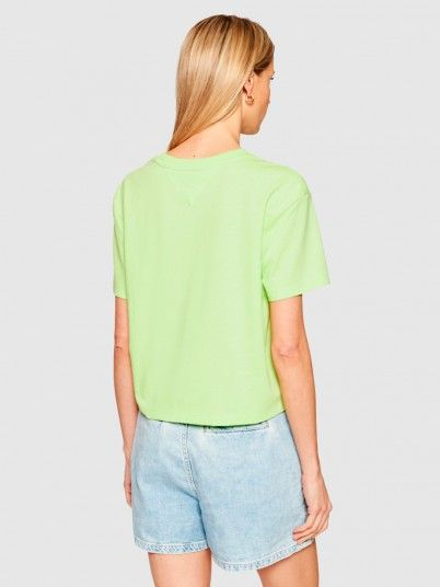 T-Shirt Woman Green Tommy Jeans