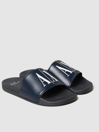 Flip Flops Man Navy Blue Armani Exchange