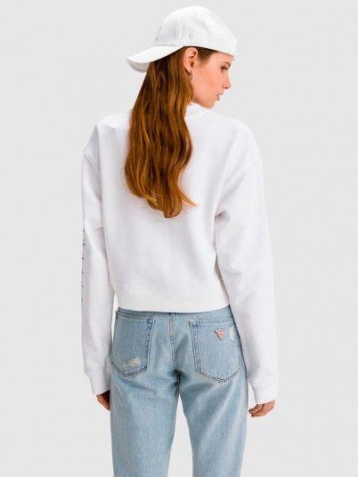 Sweatshirt Woman White Calvin Klein