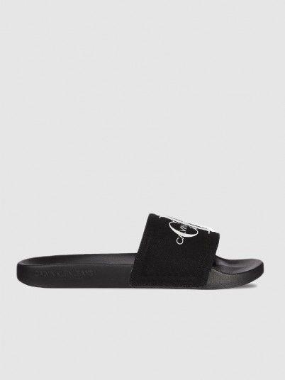 Flip Flops Man Black Calvin Klein