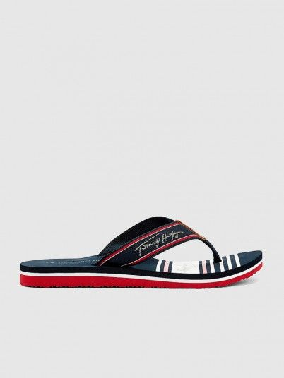 Chinelo Mulher Signature Beach Tommy Jeans