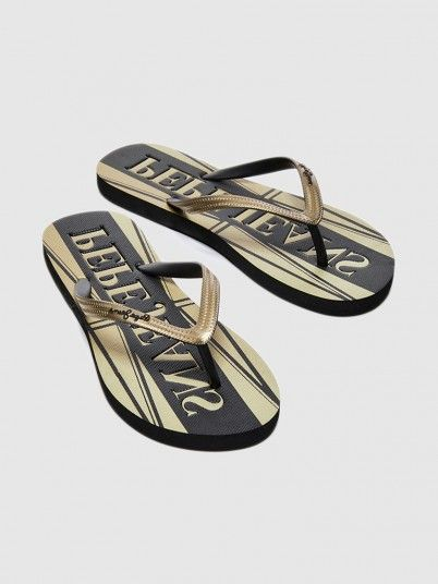 Flip Flops Woman Golden Pepe Jeans London