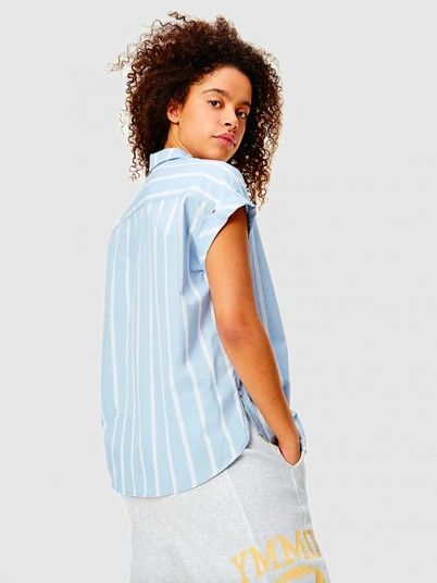 Shirt Woman Blue Tommy Jeans