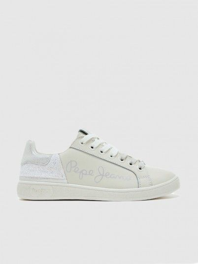 Sneakers Woman Light Gray Pepe Jeans London