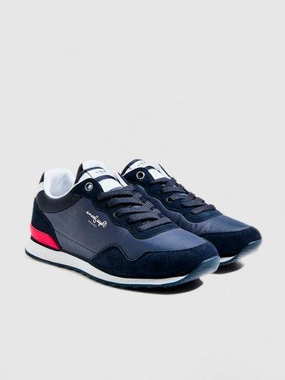 Sneakers Man Navy Blue Pepe Jeans London