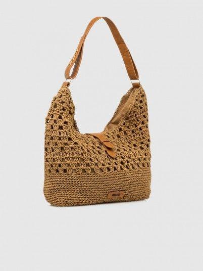 Handbag Woman Brown Mtng