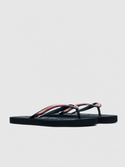 Flip Flops Woman Navy Blue Tommy Jeans