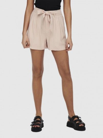 Shorts Woman Beige Only