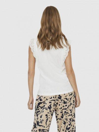 T-Shirt Woman White Vero Moda