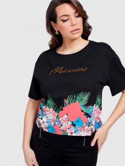 T-Shirt Mulher Flower Marciano