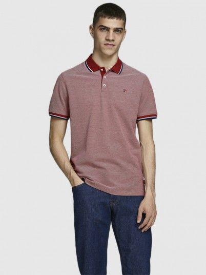 Polo Shirt Man Red Jack & Jones