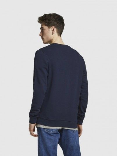 Sweatshirt Man Navy Blue Jack & Jones