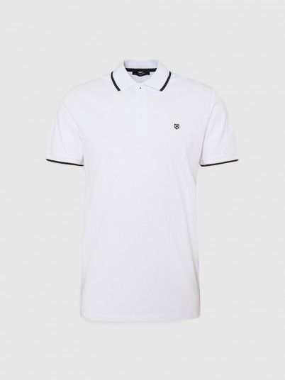 Polo Shirt Man White Jack & Jones