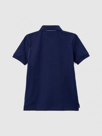 Polo Shirt Boy Navy Blue Tommy Jeans Kids