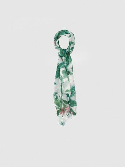 Scarf Woman White Only