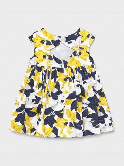 Vestido Saten Estampado Bebé Menina Mayoral