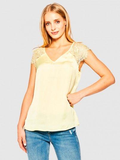 Shirt Woman Lemon Yellow Guess