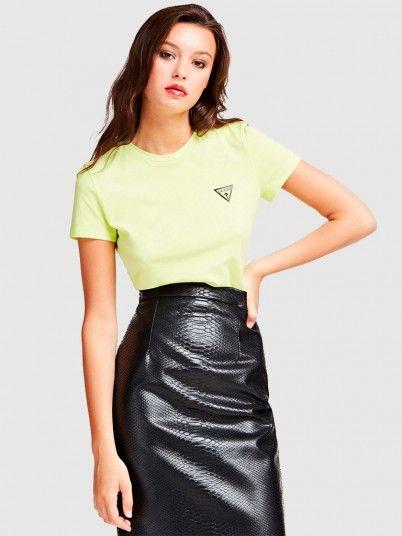 T-Shirt Woman Lemon Yellow Guess