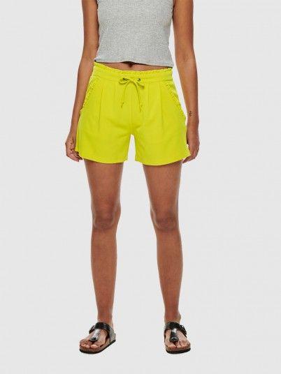 Shorts Woman Green Lemon Jacqueline de Yong