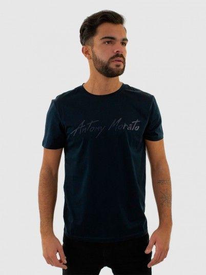 T-Shirt Man Dark Blue Antony Morato
