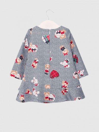 Vestido Felpa Estampado Bebé Menina Mayoral