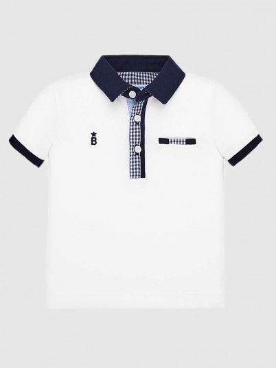 Polo Shirt Baby Boy White Mayoral