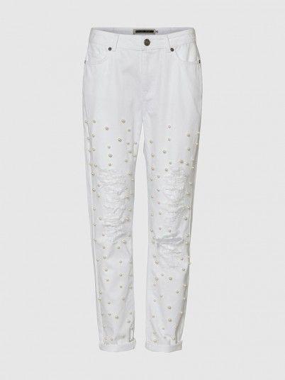Pants Woman White Noisy May