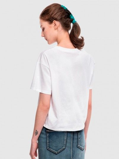 T-Shirt Woman White Pepe Jeans London
