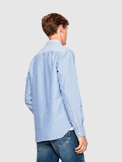 Shirt Man Blue Pepe Jeans London