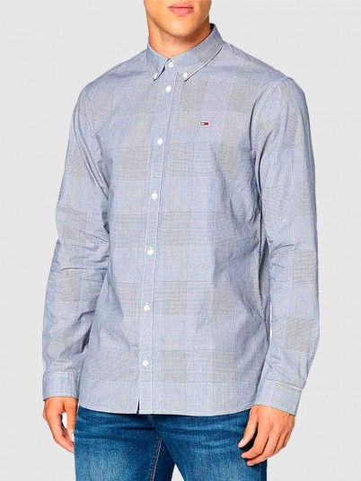 Shirt Man Navy Blue Tommy Jeans