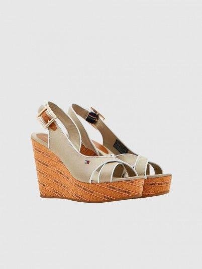 Sandals Woman Beige Tommy Jeans