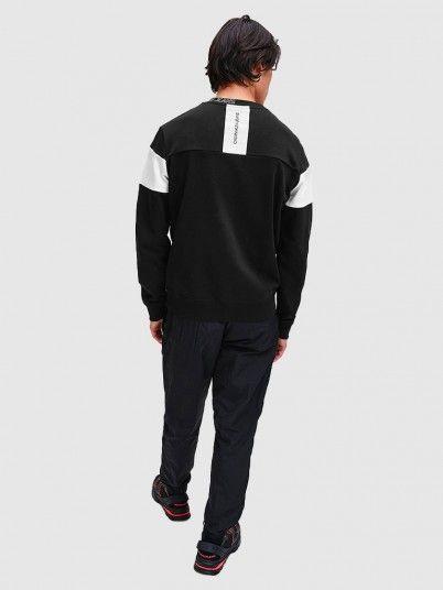Sweatshirt Homem Collar Logo Calvin Klein