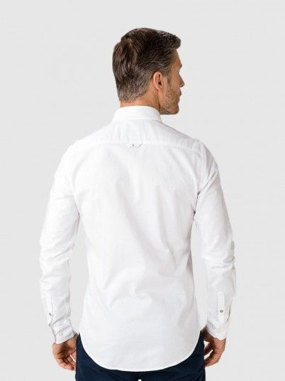 Camisa  Manga Comprida Homem Oxford Calvin Klein