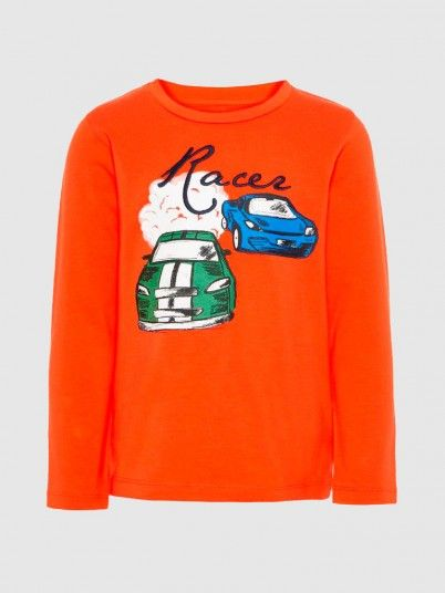 Sweatshirt Boy Orange Name It