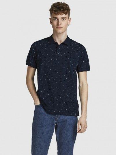 Polo Shirt Man Navy Blue Jack & Jones