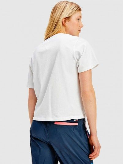 T-Shirt Woman White Tommy Jeans