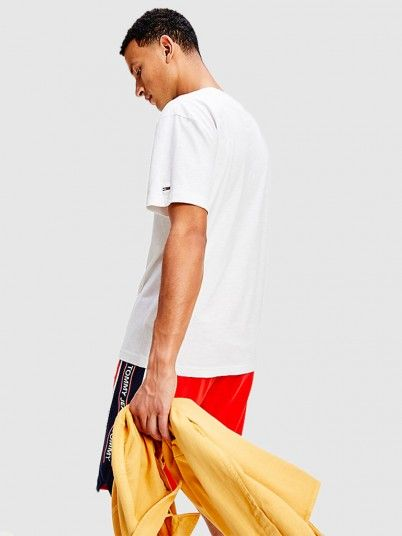 T-Shirt Homem Vertical Tommy Jeans