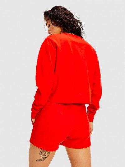 Sweatshirt Woman Red Tommy Jeans
