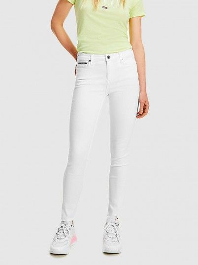 Pants Woman White Tommy Jeans