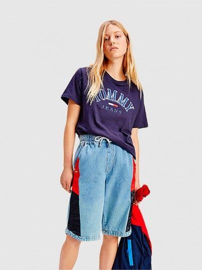 T-Shirt Woman Navy Blue Tommy Jeans