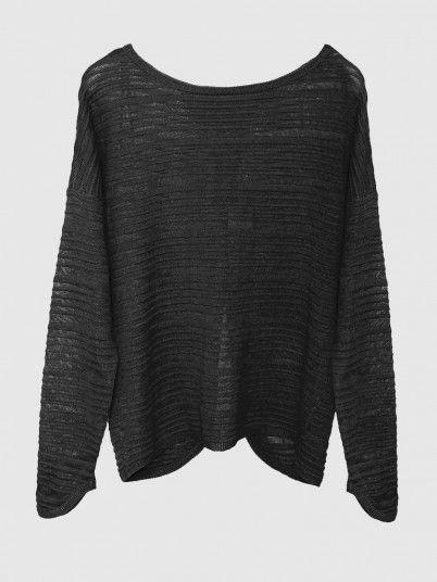 Beatrice L/s Back Slit Pullover Knt