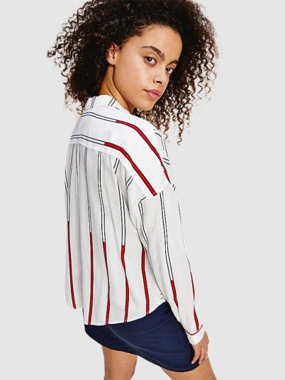 Shirt Woman White Tommy Jeans
