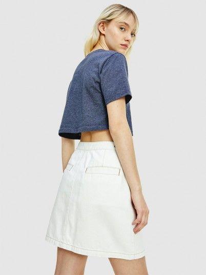 T-Shirt Woman Blue Tommy Jeans